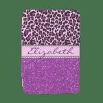 Personalized Purple Leopard Print