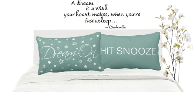Dream On Bed Set Throw Pillows, Pillowcases and Blankets