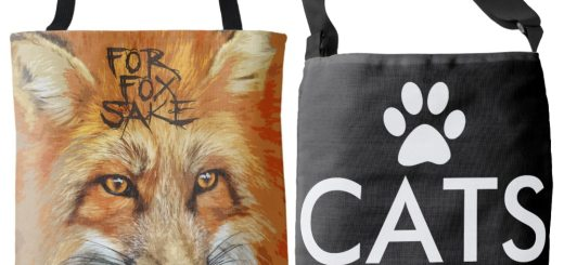 Novelty All-Over Print Tote Bags and Cross Body Bags
