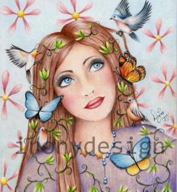 Woman Birds and Butterflies Products