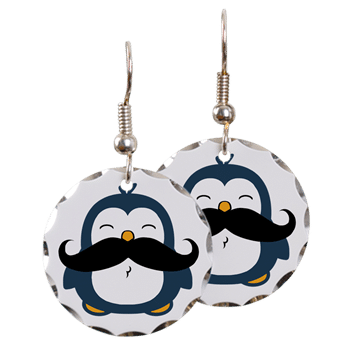 Mustache Penguin Earrings