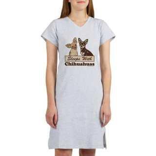 Sleeps With Chihuahua Woman's Novelty Nightshirts