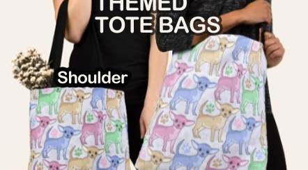 Dog Themed Tote Bags