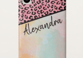 Personalized Girly Pink Leopard Watercolor Gift Products