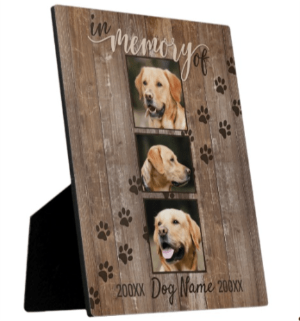 Custom Dog Memorial Photo Keepsake
