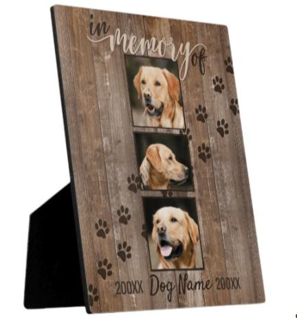 Custom Dog Memorial Photo Keepsake