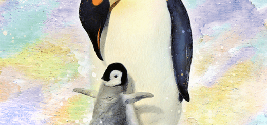 Penguin with Baby Gifts and Merchandise | Watercolor Painting