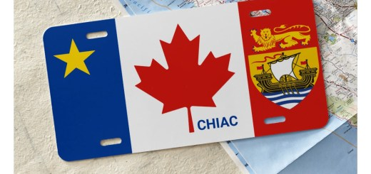 Acadian Canadian License Plate