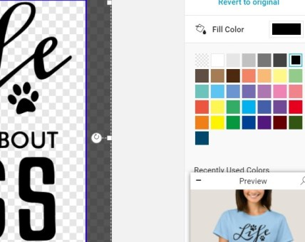 How to Change Color to a Vector Design in Zazzle.