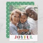 Joyful Holiday Photo Card | Modern Christmas Set