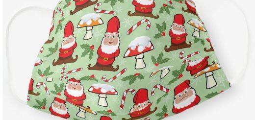 Gnomes Holiday Design Christmas Face Masks