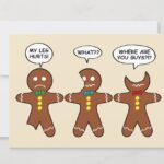 Gingerbread Everything is Fine Holiday Card