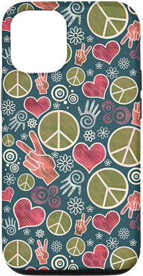 iPhone 12/12 Pro Peace Symbol Hipster Pacifism Sign Design Case