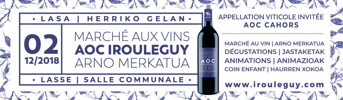 Marché aux vins d'Irouléguy le 2 décembre 2018