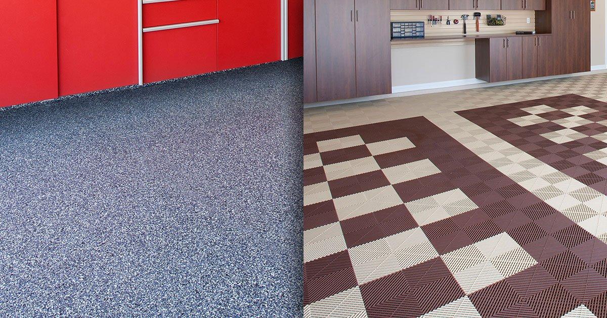 epoxy vs modular which type of garage