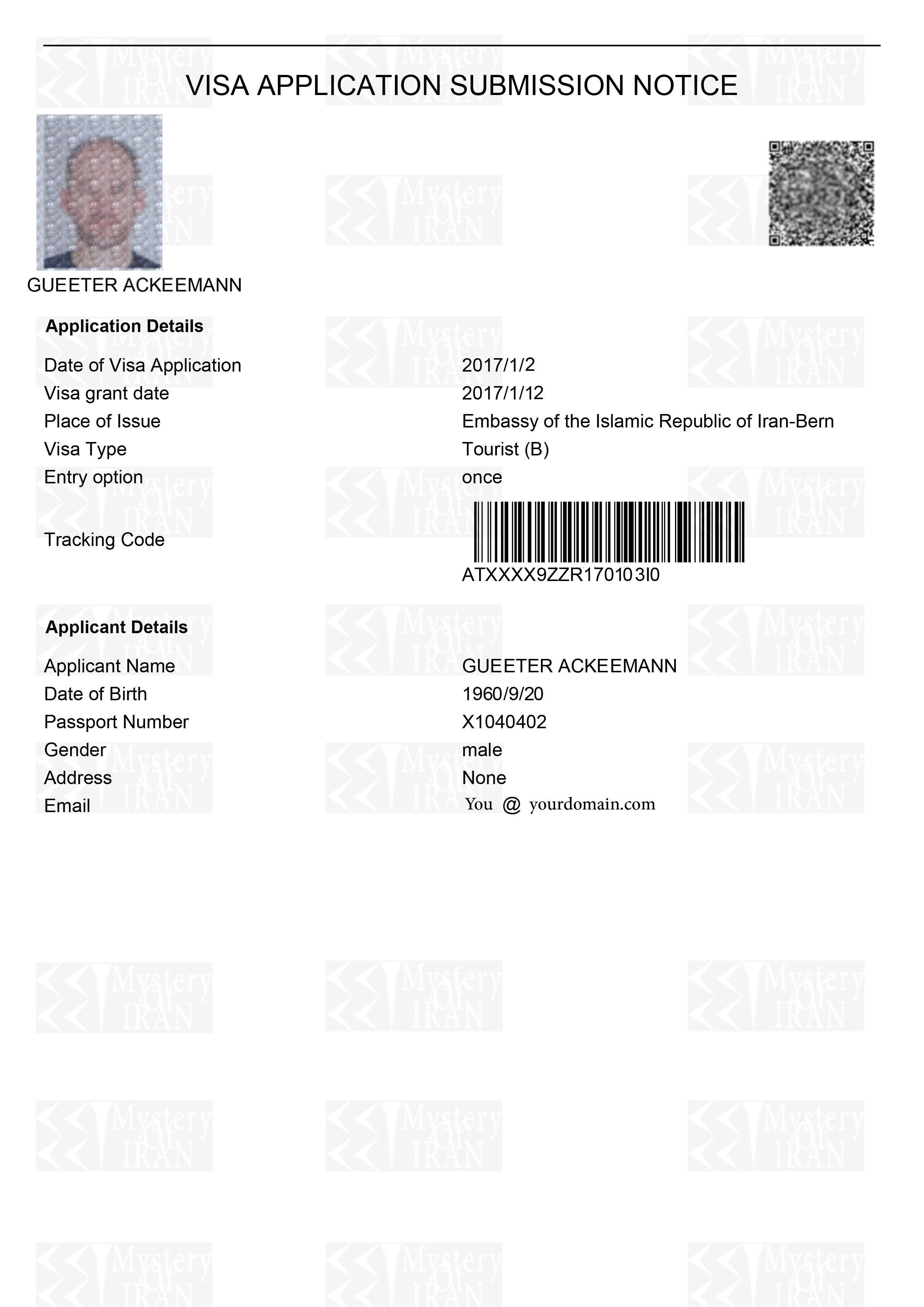 Online Iran Visa Application 29