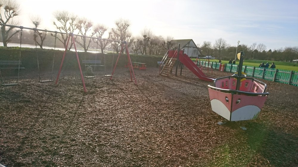 One of the playgrounds at Willen Lake