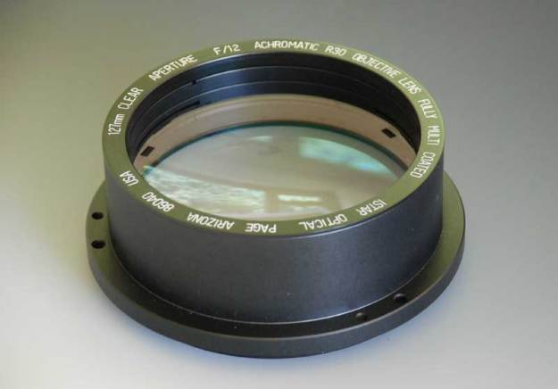 127mm diameter f/12 R30 objective lens by I R Poyser