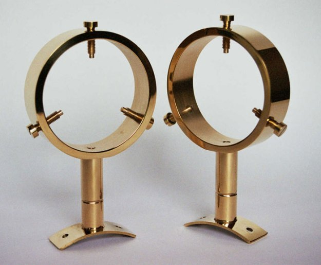 SFR.2 A pair of brass finder rings by I R Poyser