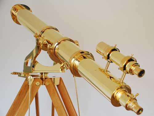 Brass telescope by IR Poyser