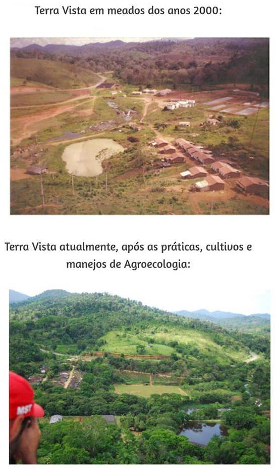 Assentamento Terra Vista MST antes e depois