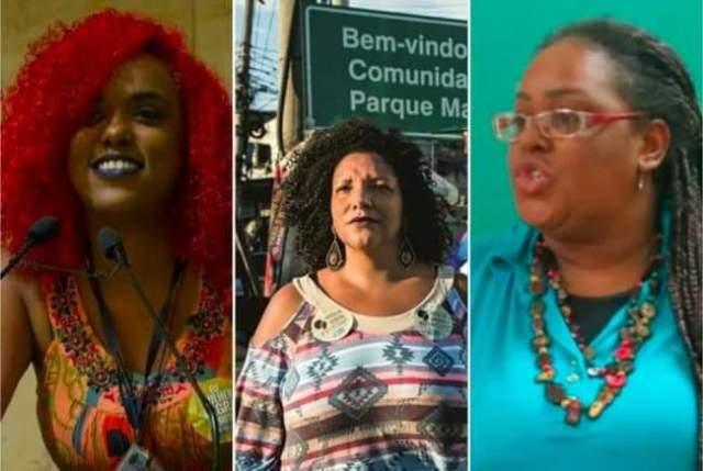 Daniela Monteiro, Renata Souza e Mônica Francisco, ex-assessoras de Marielle Franco, foram eleitas deputadas estaduais pelo RJ, todas pelo PSOL.