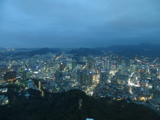 View from the top of Seoul N Tower,