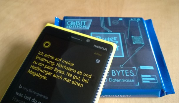 Ritter Sport CeBIT-Edition und Cortana