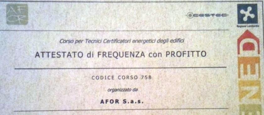 abilitazione certificatore energetico 2012