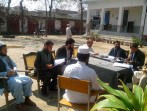 Meeting with teachers union on illegal occupied school