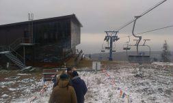 Zum Skifahrn hat's noch nicht gereicht, aber die Aussicht auf den Baikal war schön.