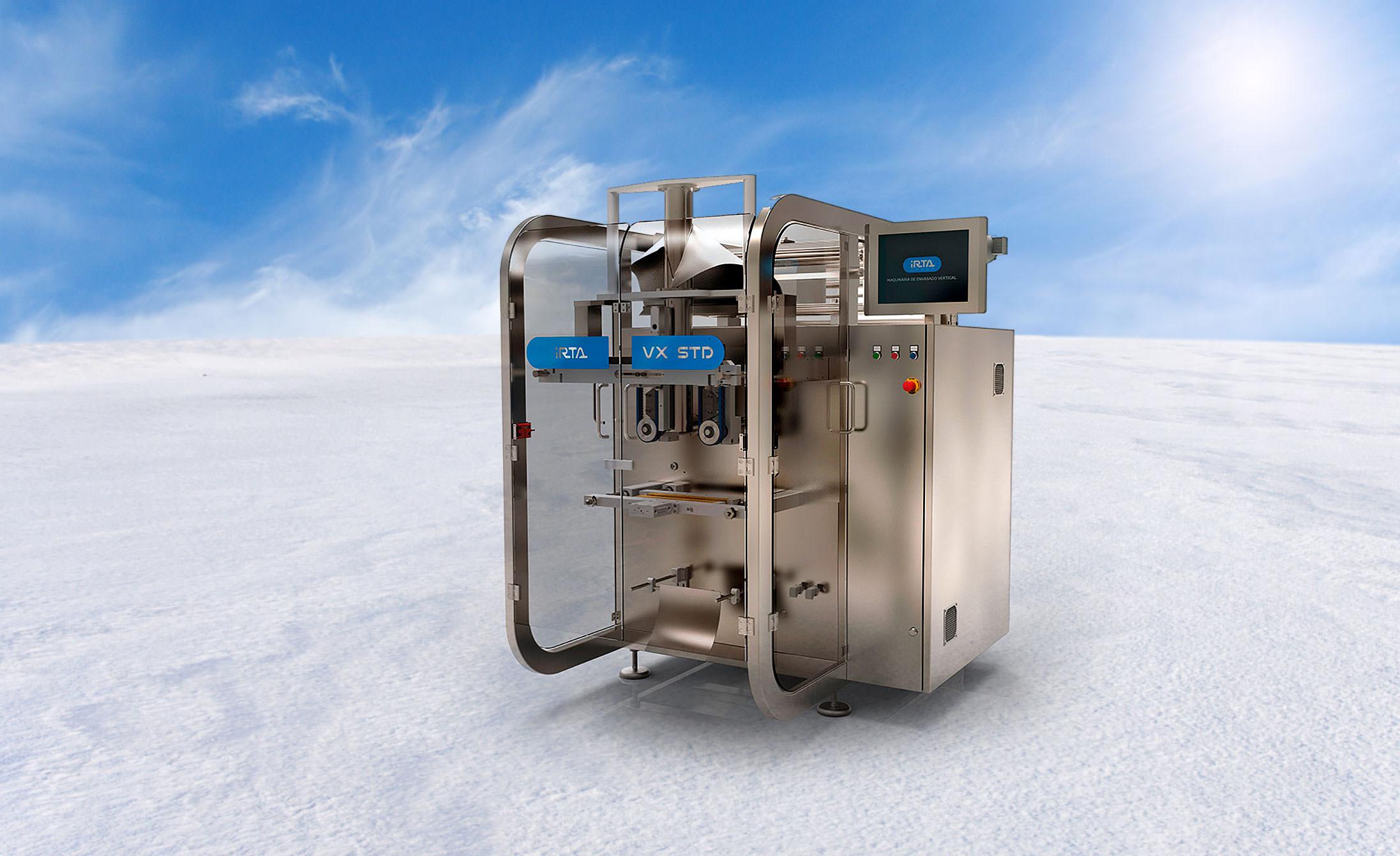 Maquina de envasado vertical para productos congelados