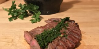 Homemade Spicy Chimichurri Sauce for Grilled Steak