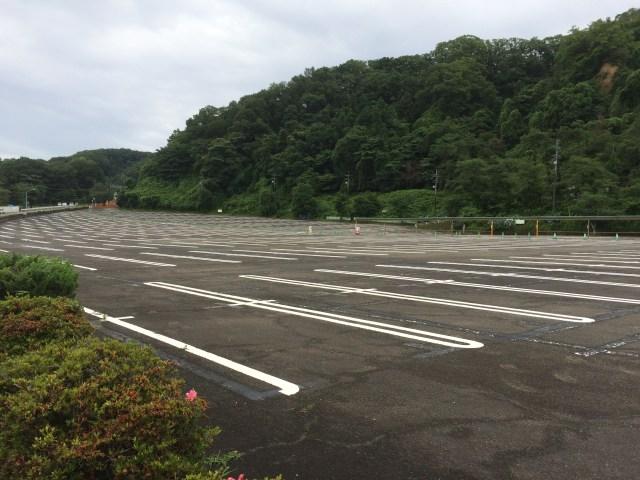 東京サマーランドの第一駐車場