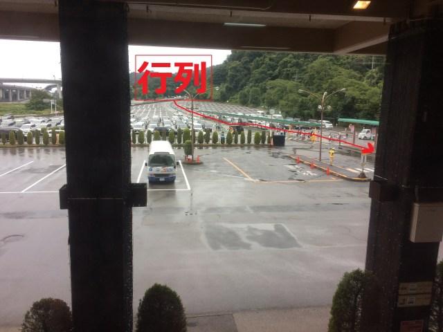 東京サマーランドの入場行列