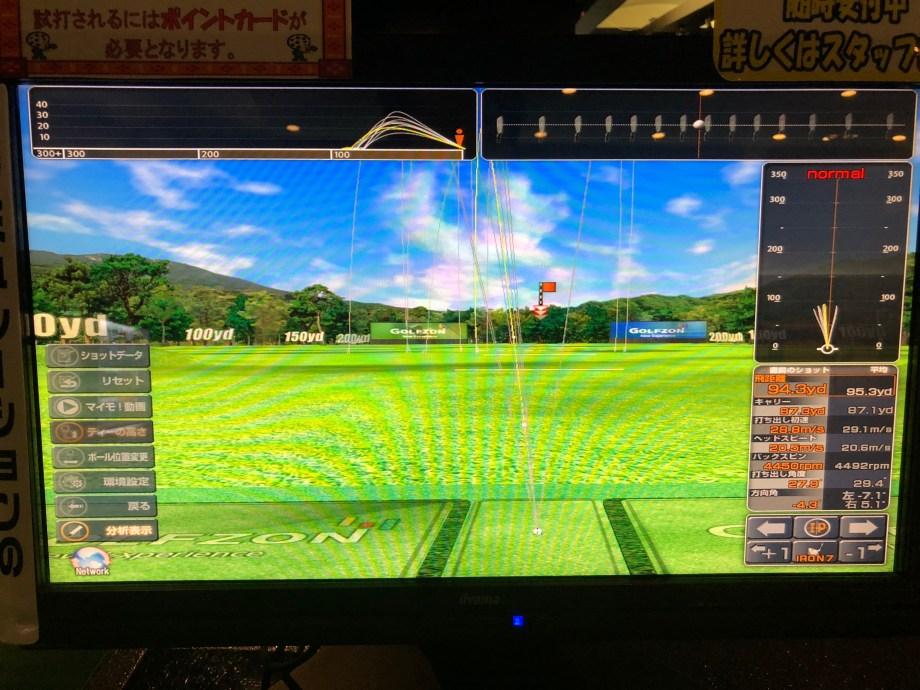 ゴルフパートナーインドアゴルフのスイングデータ