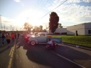 There were over 300 classic cars - with their cheering owners - lining the streets
