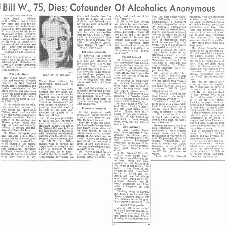 Bill Wilson in the news