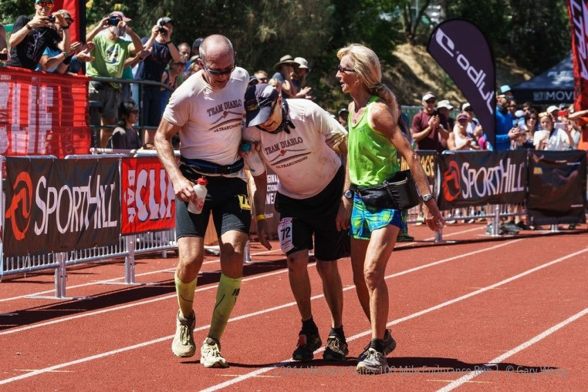 Wally Hesseltine, 72, at Western States 100 Finish