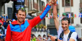 Francois D'Haene and Killian Jornet UTMB 2017