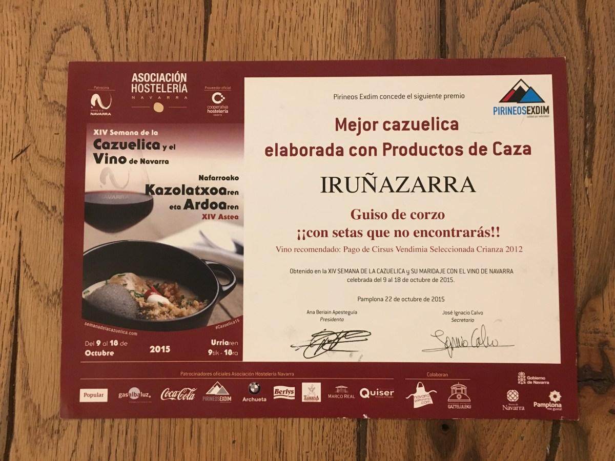 XIV Semana de la Cazuelica y el Vino de Navarra 2015