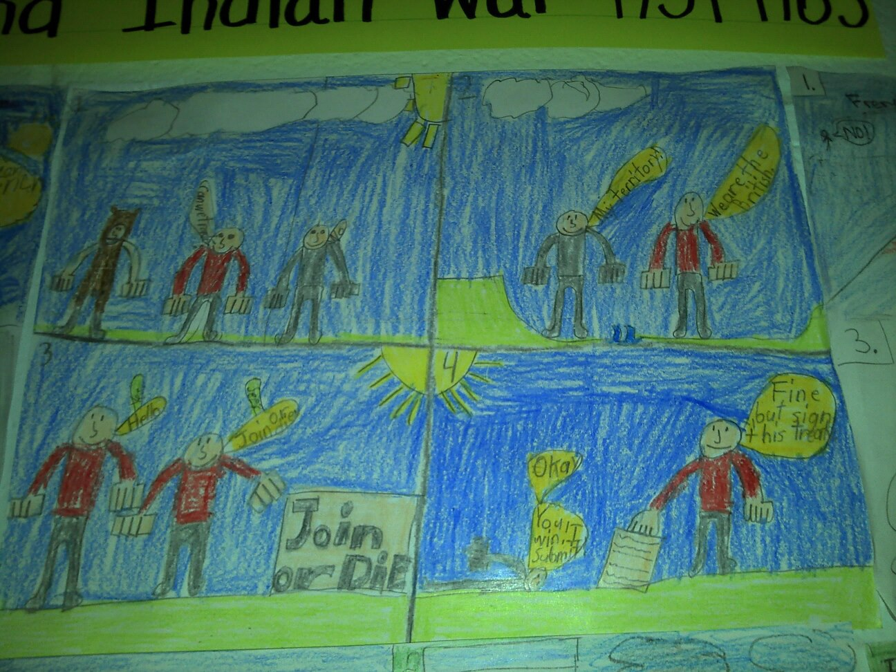 French And Indian War Comic Strips