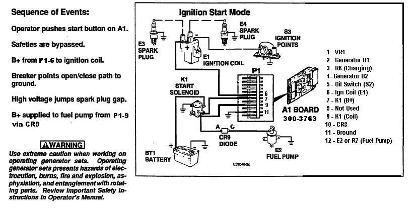 Need Schematic Drawing Of Onan 300-3763 Circuit Board