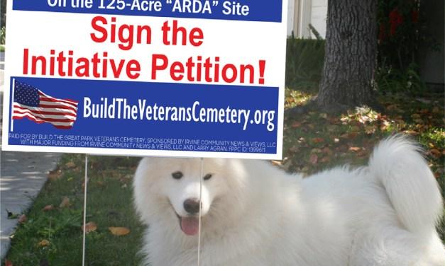 Irvine citizens gathering signatures for initiative campaign to build Veterans Memorial Park & Cemetery