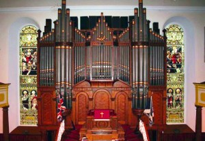 Furnishings organ pipes