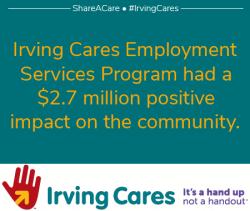 Irving Cares Economic Impact of Employment is $2.7 million