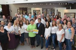 Teddie Story presents the Summer Squeeze Award to PPAI