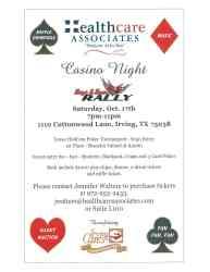 Healthcare Associates Casino Night on Oct. 17, 2015