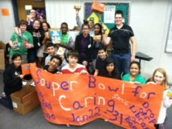 Travis Middle School Souper Bowl donation