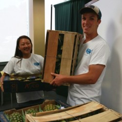 Christine and Alex Unload Produce for the Food Pantry